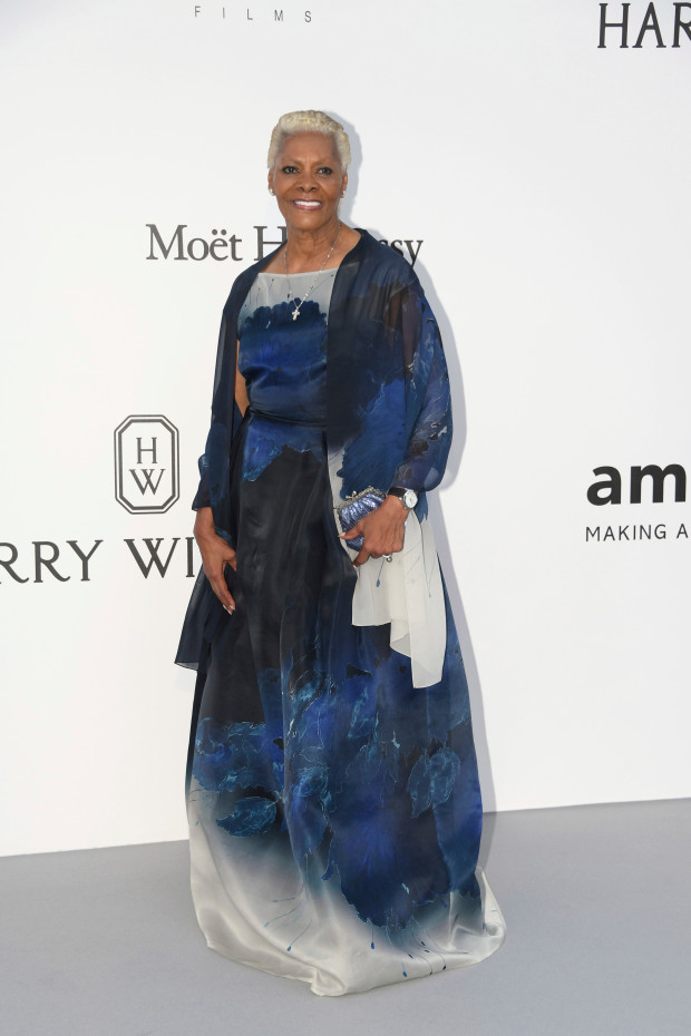 Singer Dionne Warwick poses for photographers upon arrival at the amfAR charity gala during the Cannes 70th international film festival, Cap d'Antibes, southern France, Thursday, May 25, 2017. (Photo by Arthur Mola/Invision/AP)