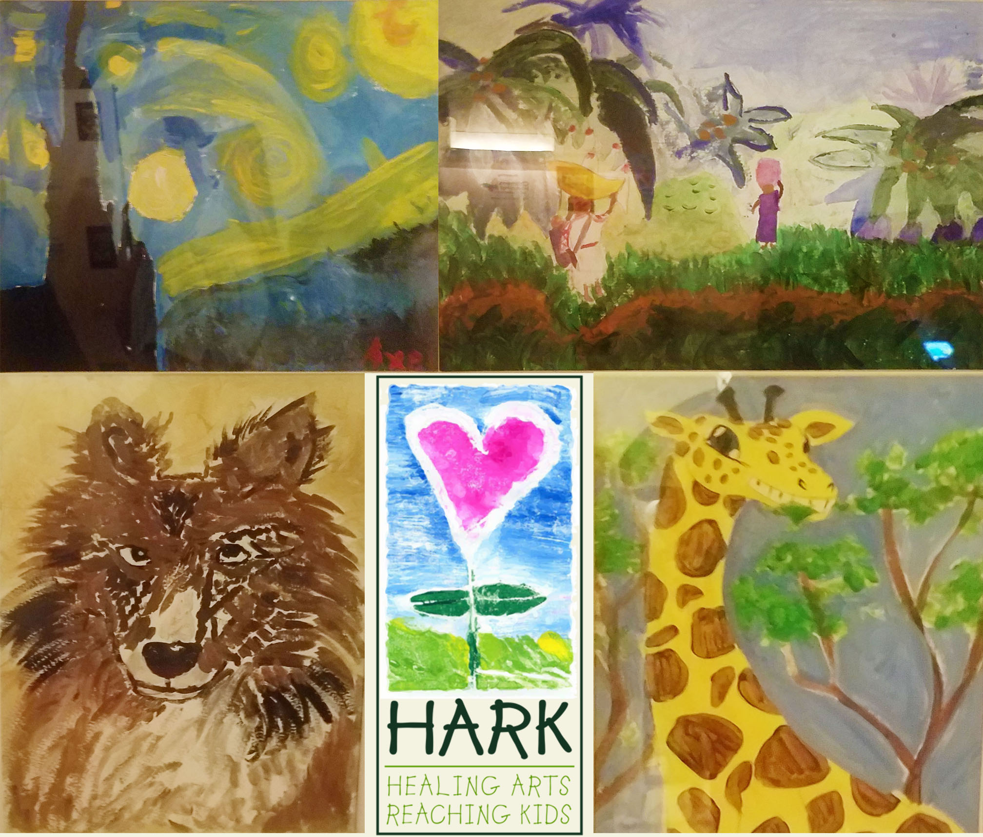 Some of the Childrens artwork that was auctioned off during the event.