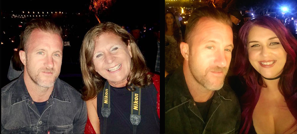 (L)Scott Caan with The Hollywood360's Sheryl Aronson (R) Scott Caan with The Hollywood 360s CEO/ Editor Linita Masters