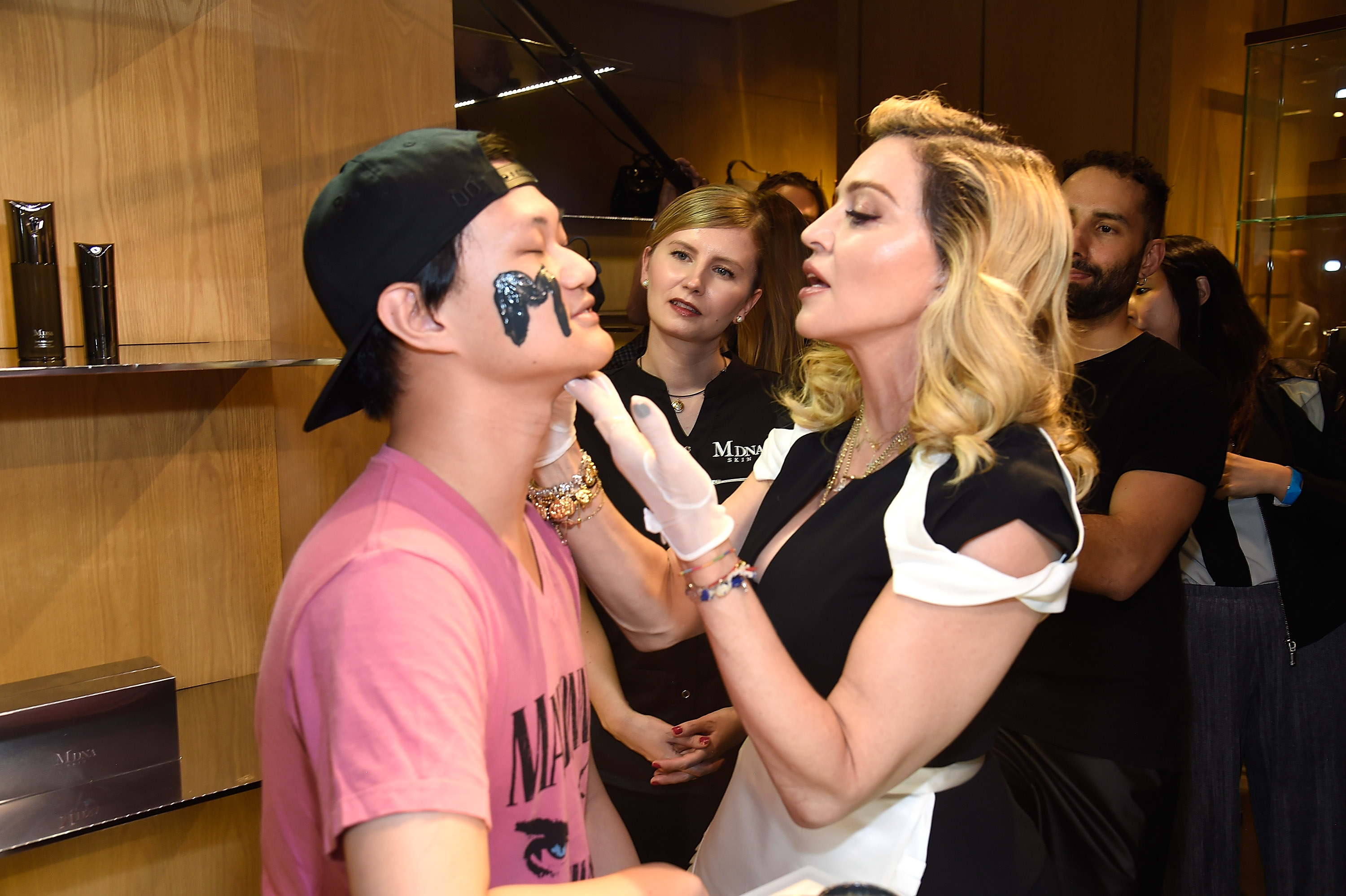 NEW YORK, NY - SEPTEMBER 26:  Madonna launches MDNA SKIN collection at Barneys New York on September 26, 2017 in New York City.  (Photo by Kevin Mazur/Getty Images for MDNA SKIN)