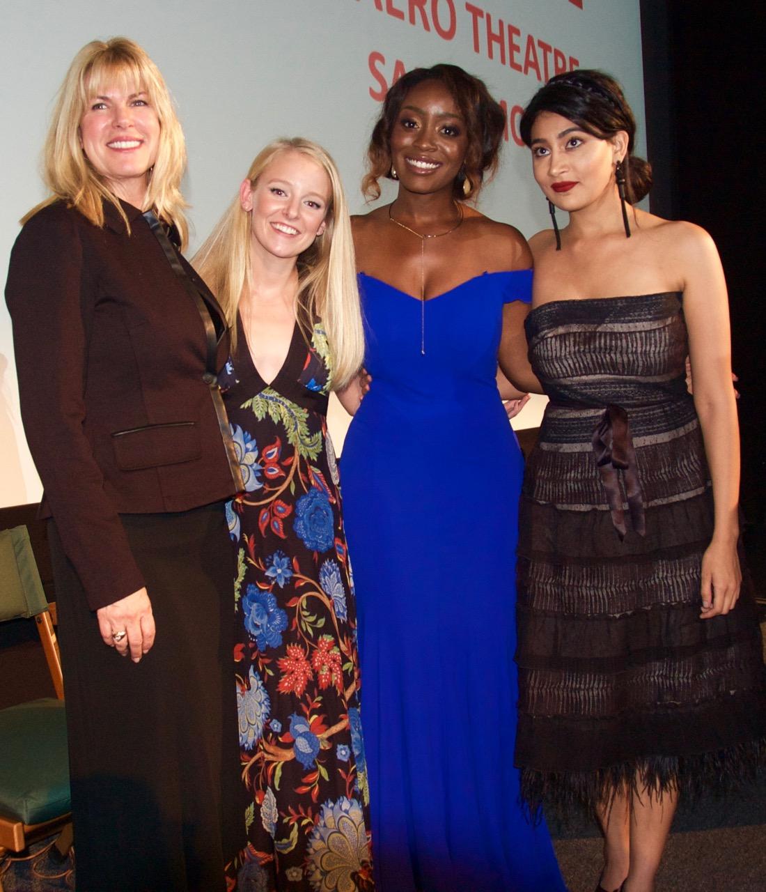 left to right: Conroy Kanter, Producer, Kelly Washington, Jessica Obilom, Alpa Banker