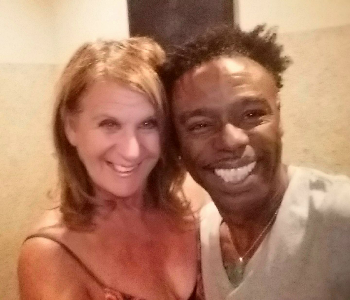 Sheryl Aronson ( The Hollywood 360 Journalist) and Norman Brown