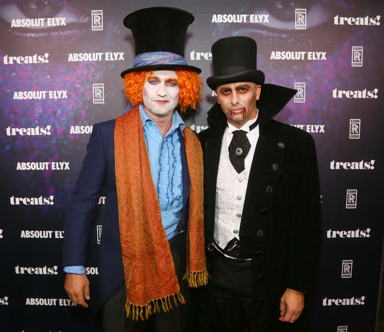 Actor Gerard Butler and Founder of treats! Steve Shaw attend treats! Magazine's 7th Halloween Party in Partnership with Rolls-Royce Black Badge, Absolut Elyx, & Perrier Jouet on October 31, 2017 in Los Angeles, California. Gerard arrived in a new black Rolls-Royce Black Badge to event. Leave it to the Geostorm star who sports a creative ensemble every year. (Photo by Gabriel Olsen/Getty Images for Treats Magazine)