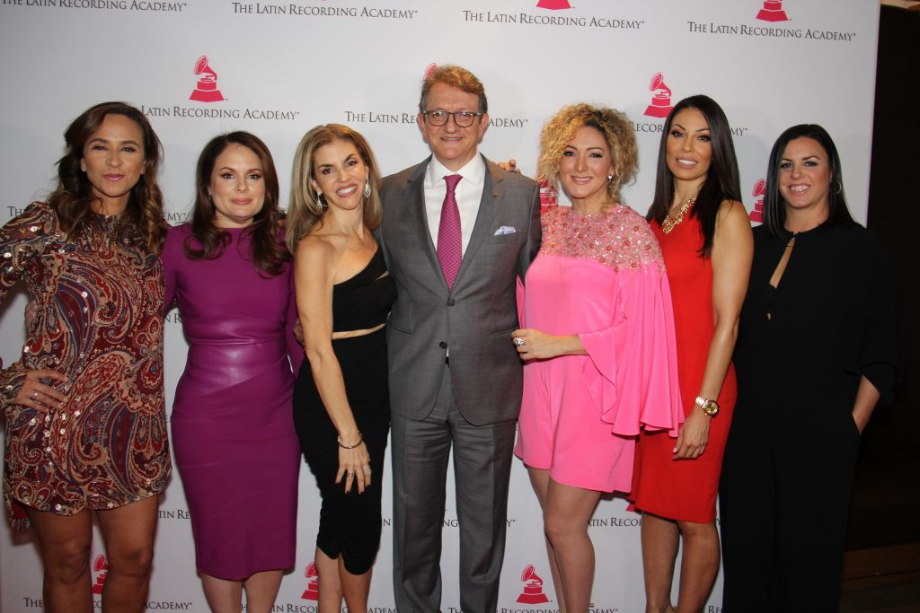 (L to R) Gabriela Martinez, Jessica Rodriguez, Leila Cobo, Gabriel Abaroa Jr., Erica Ender, Marcella Araica, Rebeca Leon Leading Ladies Inaugural Class (Photo by: Fredwill Hernandez/The Hollywood 360)