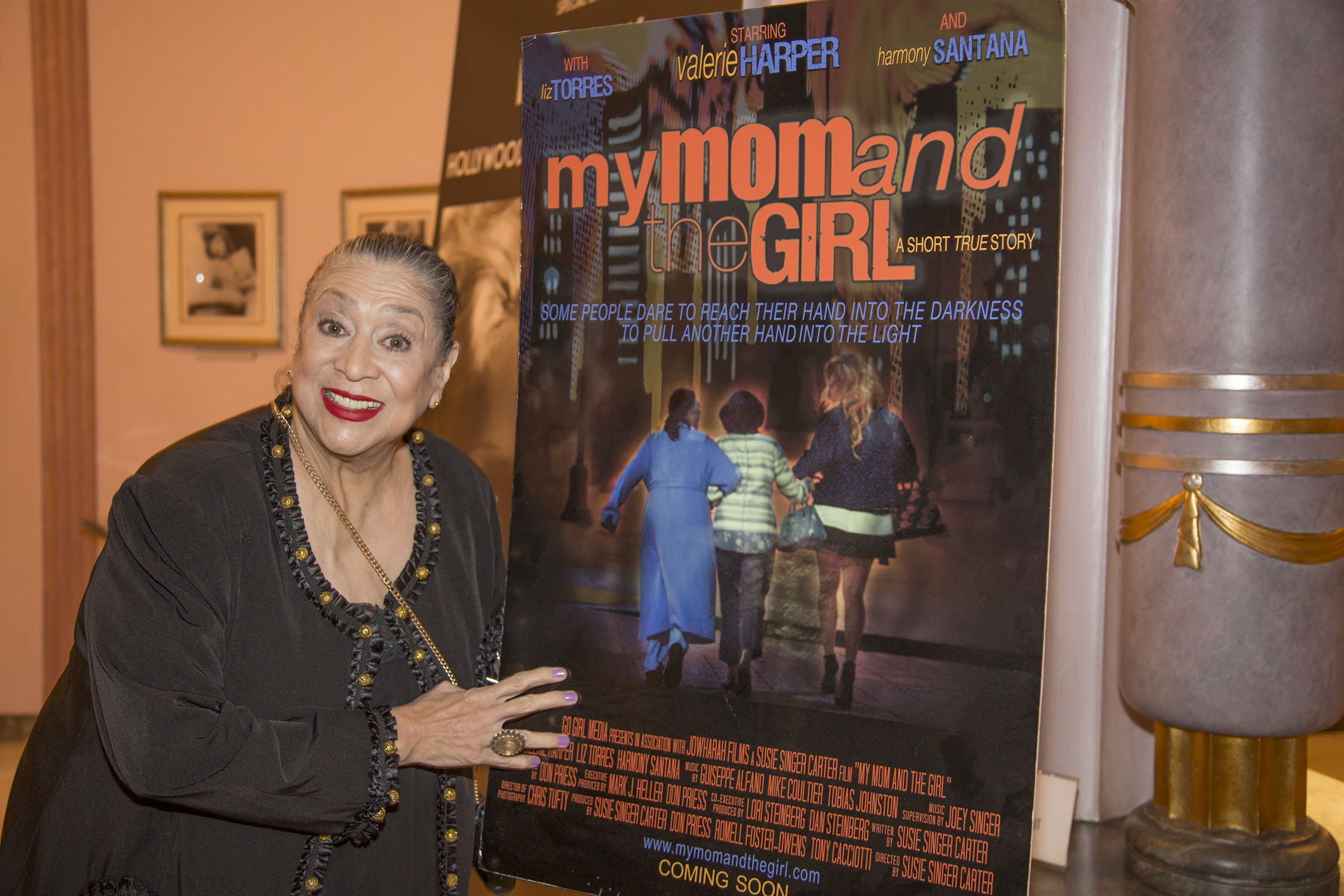 Liz Torres with My Mother and the Girl poster